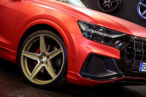 Oxigin Essen Motor Show 2018 Audi Q8 OX21 Oxflow Felgen Tuning