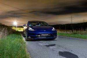 Startech Tuning Tesla Model 3 Mittelklasse E-Auto Aerodynamik-Bodykit Karosserieteile Felgen Tieferlegung Innenraum Veredlung Carbon