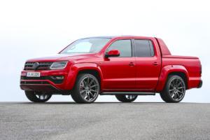 VW Red Amarok Einzelstück Studie Tuning Leistungssteigerung Airride Tieferlegung Felgen OZ Innenraum-Veredlung
