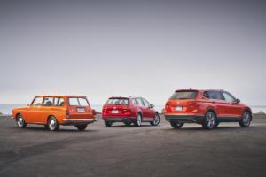 Volkswagen of America 70 Jahre VW in den USA Jubiläum Typ 3 Squareback Variant Golf Alltrack Tiguan